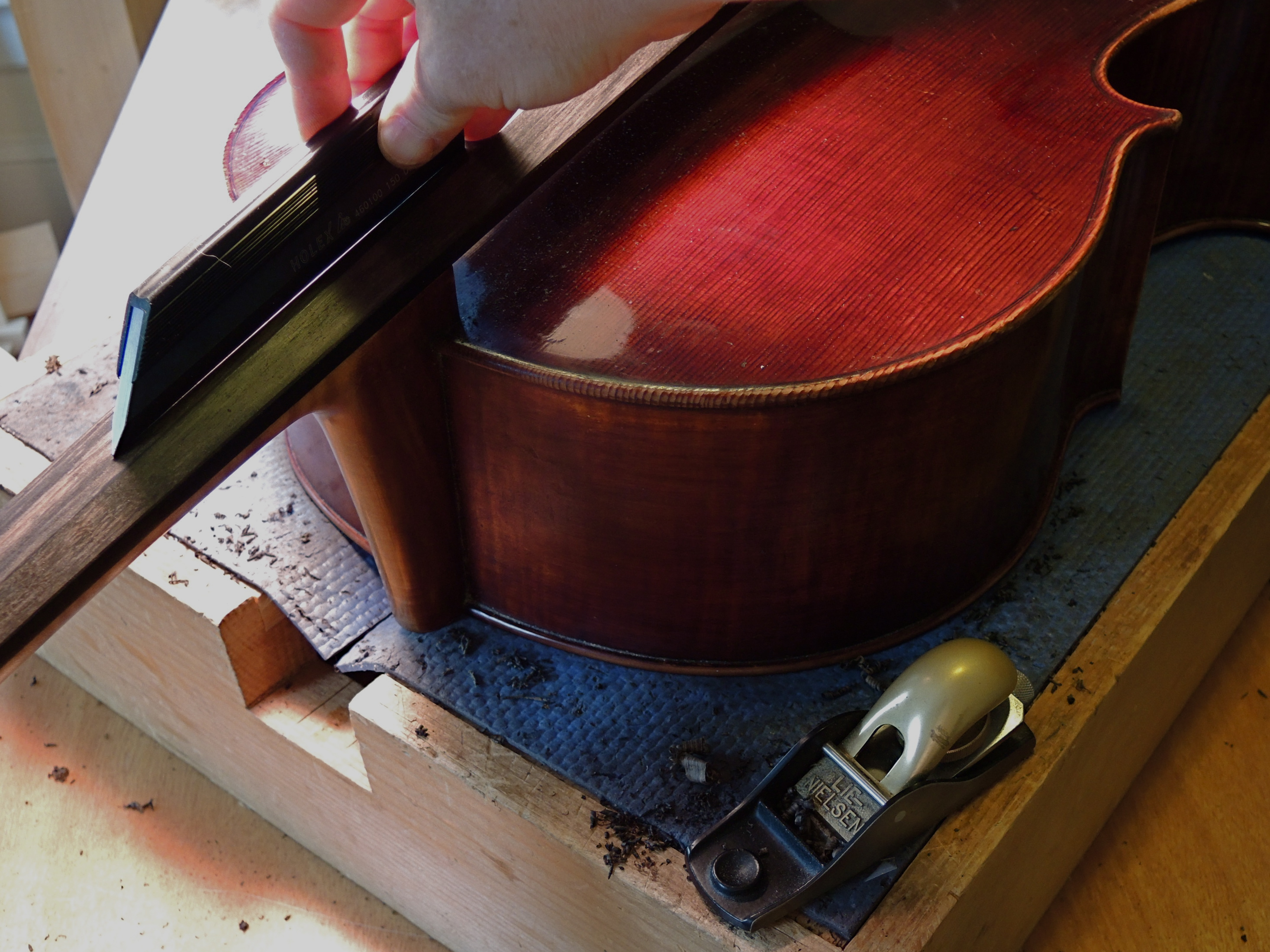 Old wood minerale interior of violin - The Fingerboard Is Polished With Mineral Oil And A Bit Of Tripoli For A Smooth Consistent Surface